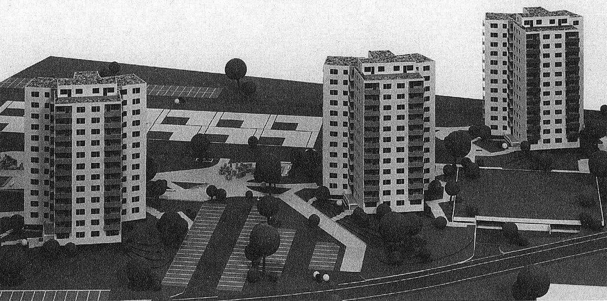Modell der Hochhäuser, Radolfzell Mezgerwaidring 1969