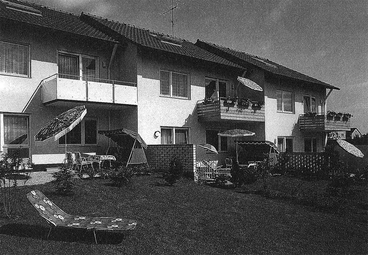Reihenhäuser in Konstanz, Breslauerstraße, 1971