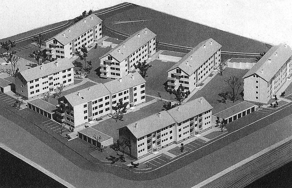 Modell Miet- und Eigentumswohnungen, Ostend Radolfzell, 1964