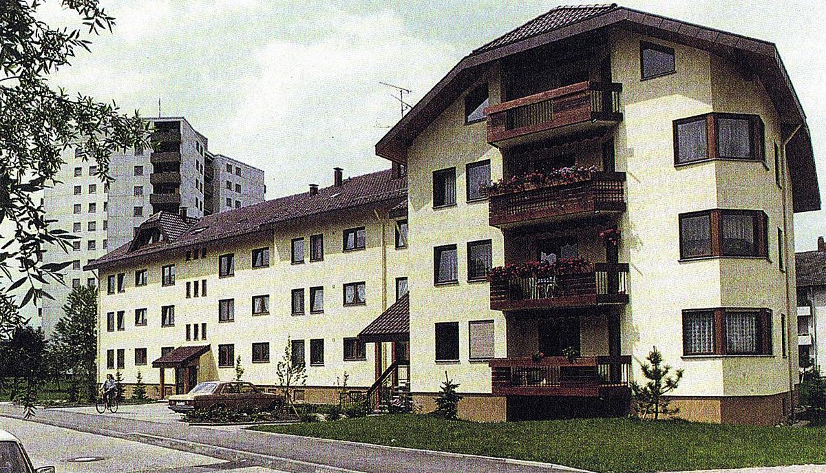 Städtische Wohnbebauung, Radolfzell Metzgerwaidring 1982/83